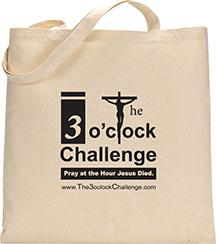 3 o'clock challenge tote bag