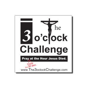 the-three-o-clock-challenge-car magnet